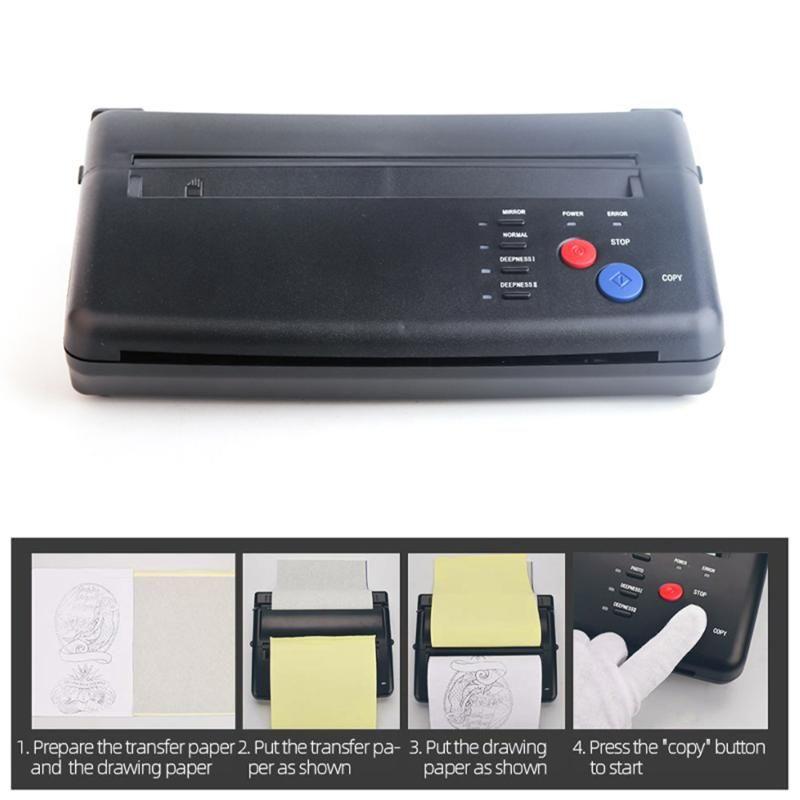 Stencil máquina de tatuaje Dibujo máquina de transferencia térmica impresora copiadora fabricante de la plantilla para la transferencia del tatuaje Suministro de papel