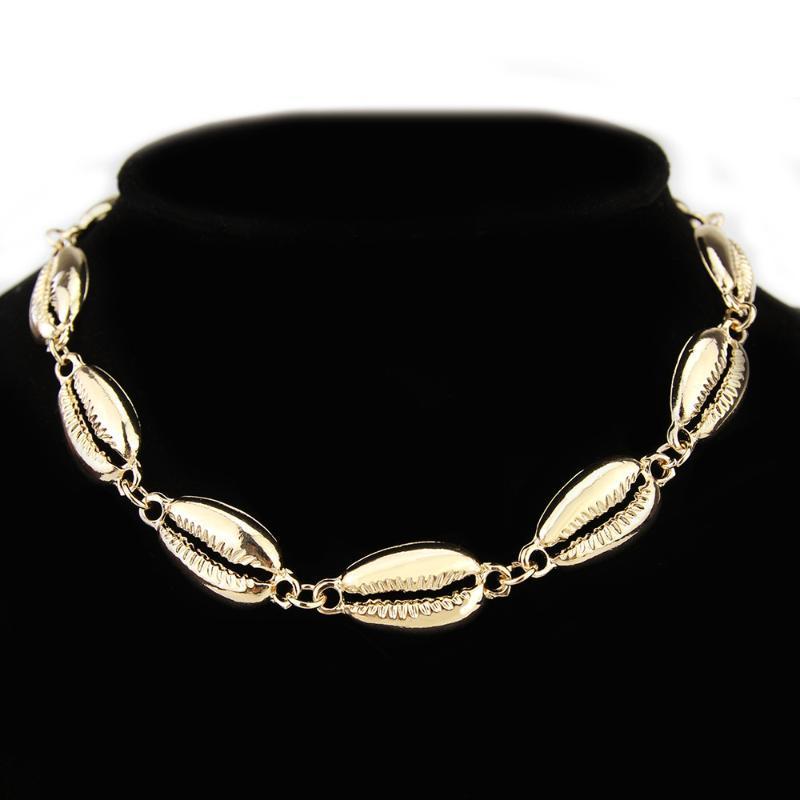 NecklacesPendants TOUCHEART Boho Oro Concha Gargantilla para las mujeres océano Shell collar de Bohemia Femme joyería Collares SNE190085
