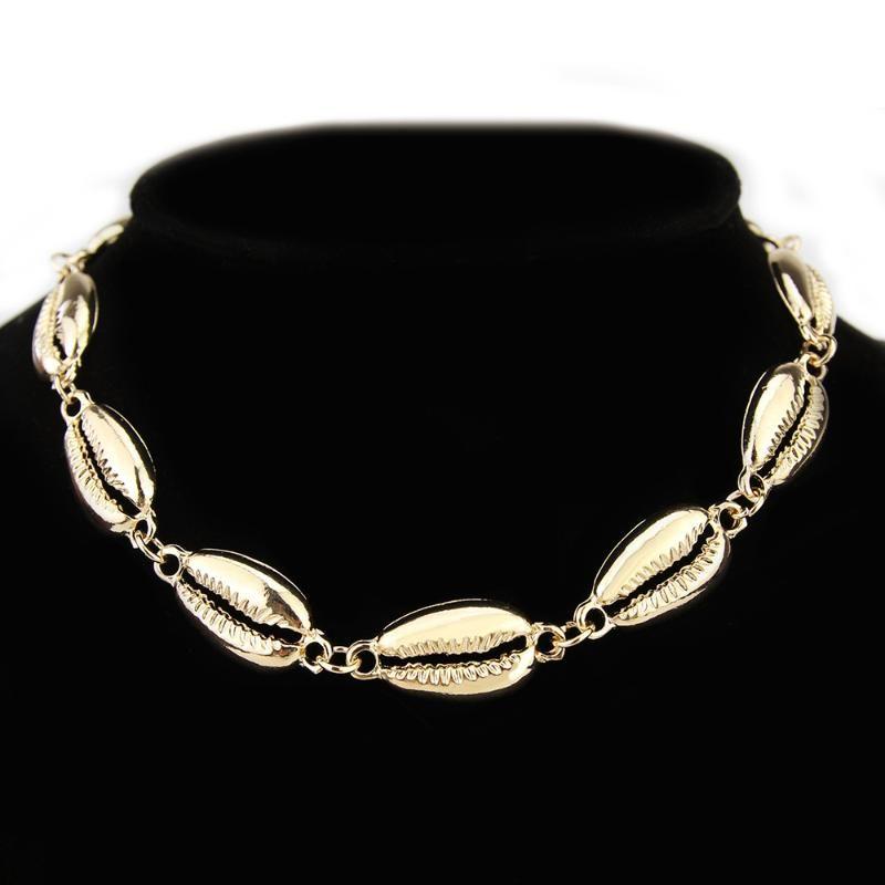 NecklacesPendants TOUCHEART Boho ouro Seashell Choker Para Mulheres Ocean Shell Colar Femme Bohemian Jóias Colares SNE190085