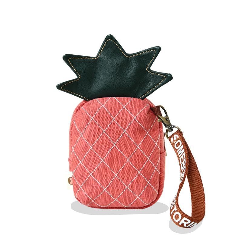 Kawaii Food Fruit Shaped Pencil Case Strawberry Pineapple Lipstick Bag Pen Storage Bag Cosmetic Coin Holder Wallet Gift Purses