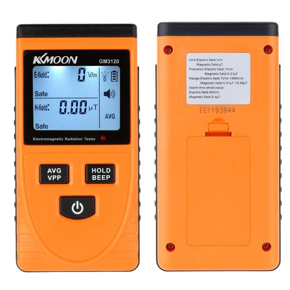 كاشف الإشعاع الكهرومغناطيسي متر dosimeter اختبار عداد يده الرقمية LCD EMF متر اختبار قياس