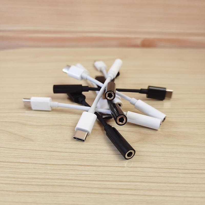 유형 C to 3.5 이어폰 어댑터 USB C AUX 오디오 잭 케이블 변환기 헤드폰 헤드셋 변환 플러그 Xiaomi Huawei Samsung