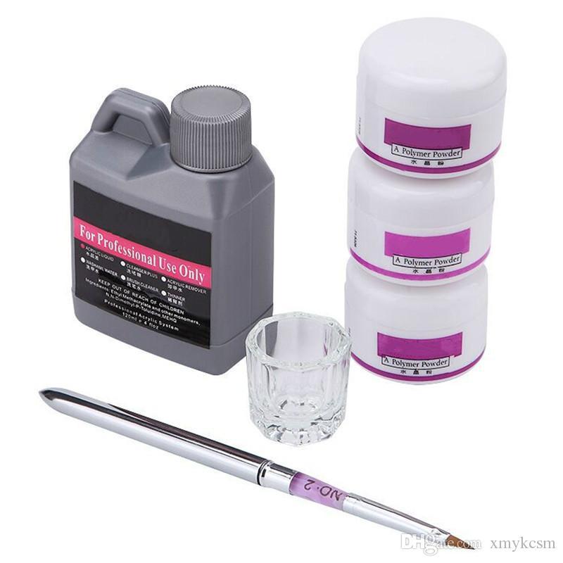 Gel de poudre acrylique de couleur de monomère acrylique 120 ml de couleur de monomère pour ongles ACRYL Manucure Matériel Outils Ensemble pour Nails Brosse Fluide en poudre