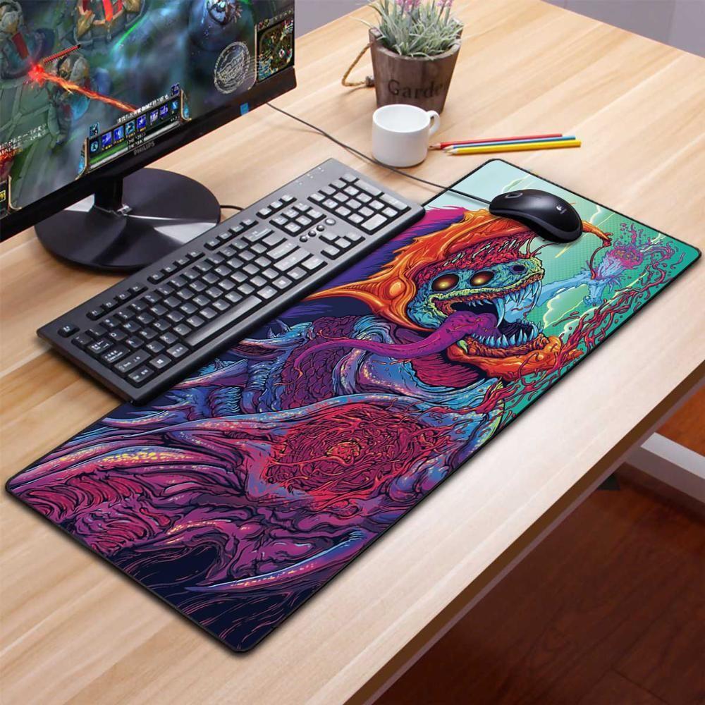 كبير لعب الفأر الوسادة نقاط لون الصلبة قفل الحافة لوحة المفاتيح الماوس حصيرة الألعاب مكتب ماوس الفأر T200619