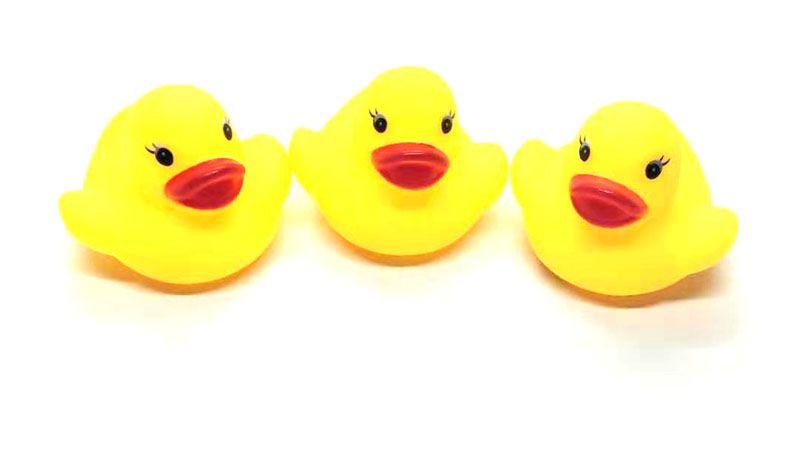 Мини Резиновая утка для ванны утка из ПВХ со звуком Плавающая утка Детская ванна с водой Игрушка для купания Пляж Подарок для малыша