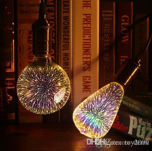 Led Light Bulb 3D Decoration Bulb E27 6W 110-220V Holiday Lights ST64 G95 G80 G125 A60 Novelty ChristmasLamp Lamparas