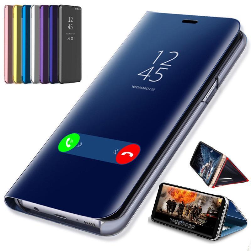 لون بلس 8Pro حالة الذكية مرآة الهاتف القضية لون بلس 8 7T برو رؤية واضحة ورقي حقيبة جلد للحصول ون بلس 7Pro 7 6T 6