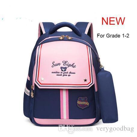 NEW 2019 kids Backpacks School Bags For Girl Grade 1-2 School Bags For Kid Light Books Bag Factory Price 2592#