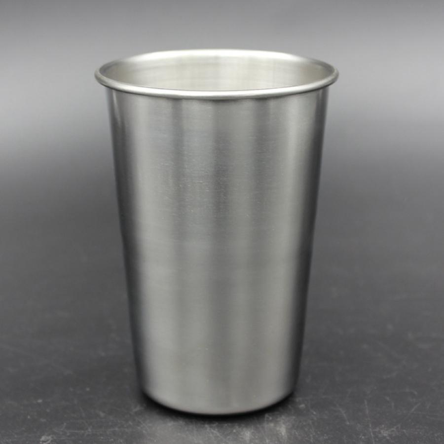 16oz Stainless Steel Pint Cup Metal Beer Mug Unbreakable BPA Free Eco-friendly For Drinking Drinkware Tools RRA1962