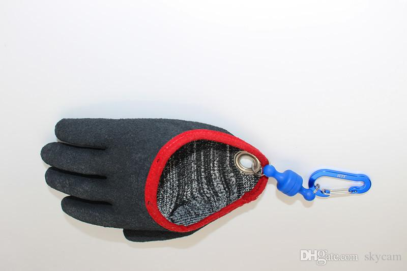 Angeln Hände Angeln Handschuhe Übergabe Fisch Magnet Release Anti-Rutsch