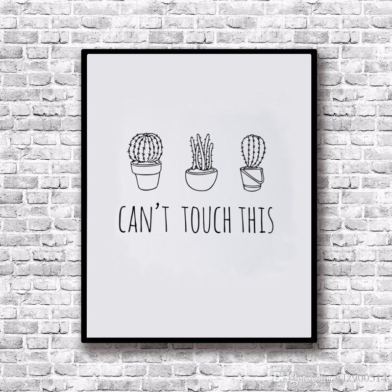 2019 Canvas Print Can\'T Touch Print Cactus Art Print Word Wall Art Kitchen  Art Home Decor , Frame Not Included From Wlz900514, $2.62 | DHgate.Com
