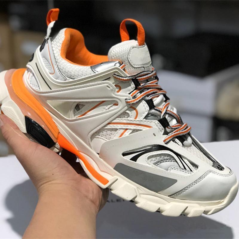 Size35-45 kadınlar Üçlü S Aksak Sneaker Günlük Ayakkabılar Sıcak Otantik Tasarımcı Ayakkabı için 3,0 Tess S Paris iz erkekler gomma maille siyah bırakın