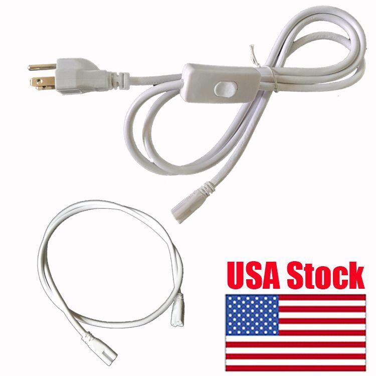 스위치와 전원 코드 1.5m T5 T8 튜브 커넥터 케이블 코드 US 플러그 라인 LED 형광 성장 라이트 바 형광 2.5A 커넥터 케이블 와이어