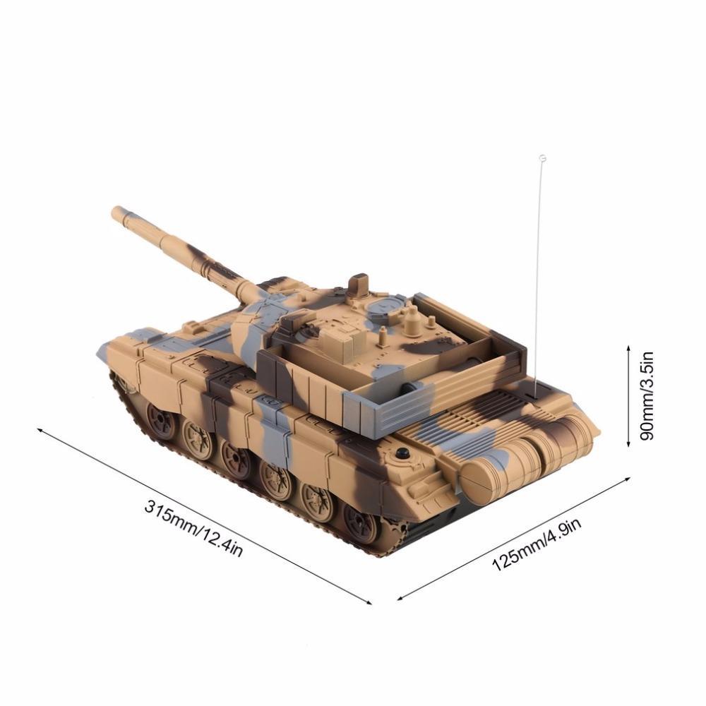 1:20 4CH Remote Power Tanks Controle Tanque militar Veículo Blindado tanque de guerra Turret rotação Luz Música Modelo RC Kids Brinquedos