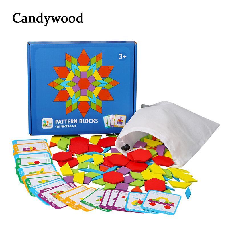 155 Pcs Jogos Criativos Crianças Educacionais Jigsaw Puzzle Aprendizagem Crianças Desenvolvimento De Brinquedos De Madeira Para Meninos Meninas