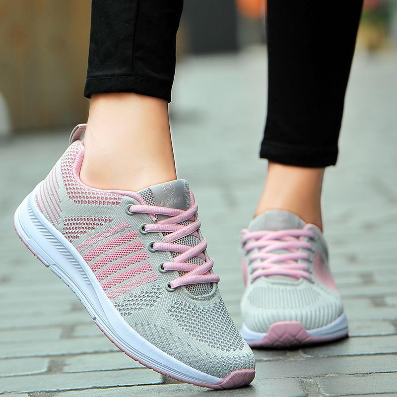 Moda Kadın Ayakkabı Rahat Nefes Olmayan Terlik Hafif Açık Seyahat Yürüyüş Kadınlar Sneaker Yeni Günlük Ayakkabılar Kadın