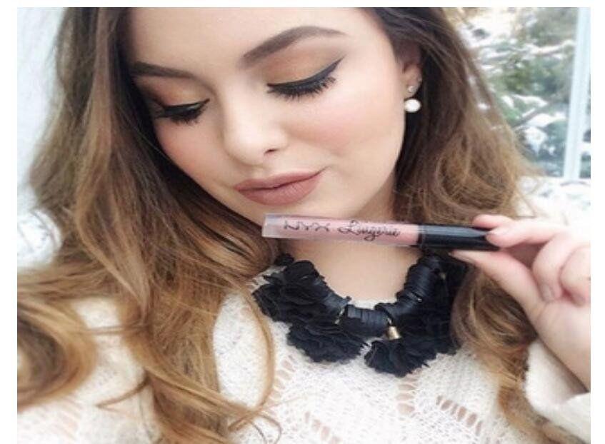 NYX lip Matte waterproof matte lip gloss lipstick Long-lasting Brand Makeup Lipsticks Lip Gloss 12 colors free shipping