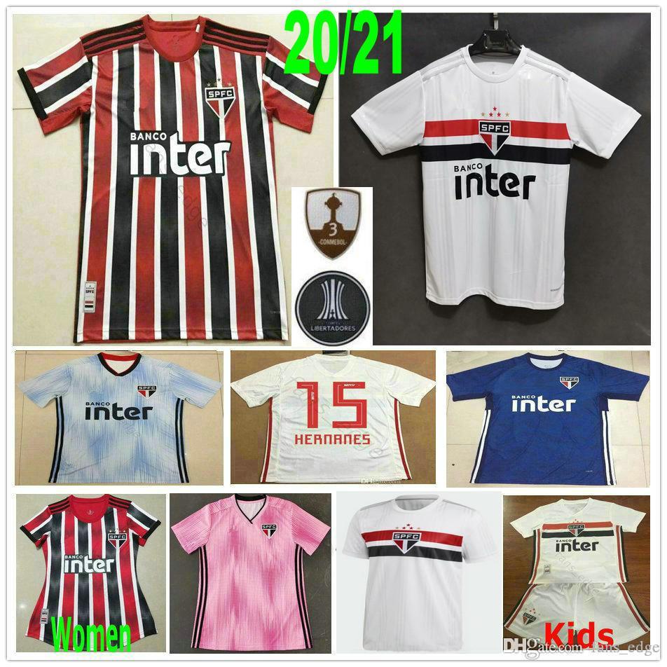2020 2021 Sao Paulo Futbol Formalar PATO NENE PABLO HERNANES Helinho JUCILEI DANI ALVES Özel Deplasman Erkekler Kadın Çocuk Gençlik Futbol Gömlek