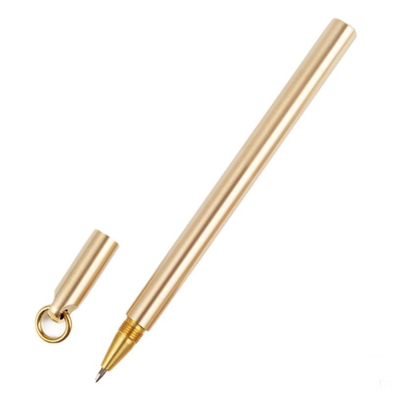 0.5mm style long et court en laiton pur stylo signature cuivre stylo à bille stylos à bille pour bureau étudiant recueillir cadeau de mariage