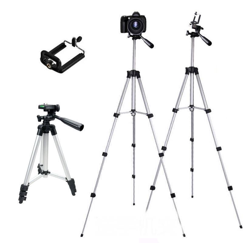 삼각대 휴대 전화 알루미늄 합금 밤 낚시 조명 망원경 카메라 삼각대 사진 유니버설 마이크로 싱글 브래킷