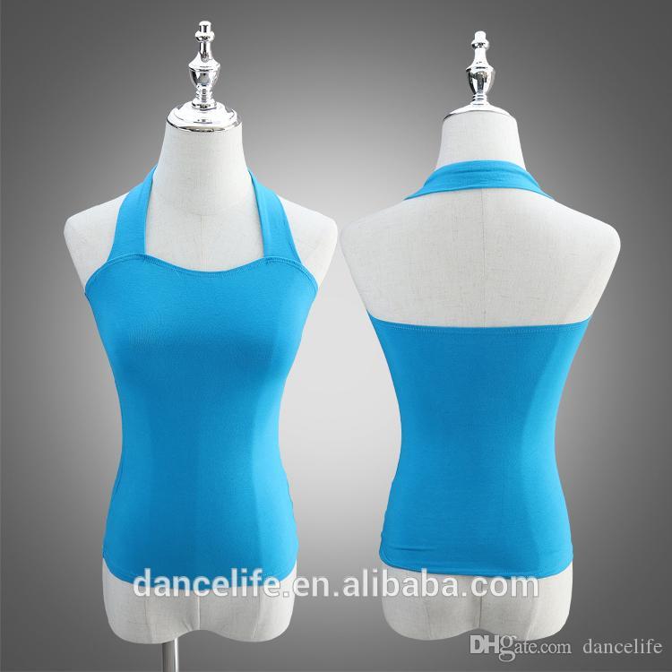 Adulto Halter Cuello Danza Top A2426 Wholesale Dancewear Ballet Ropa activa