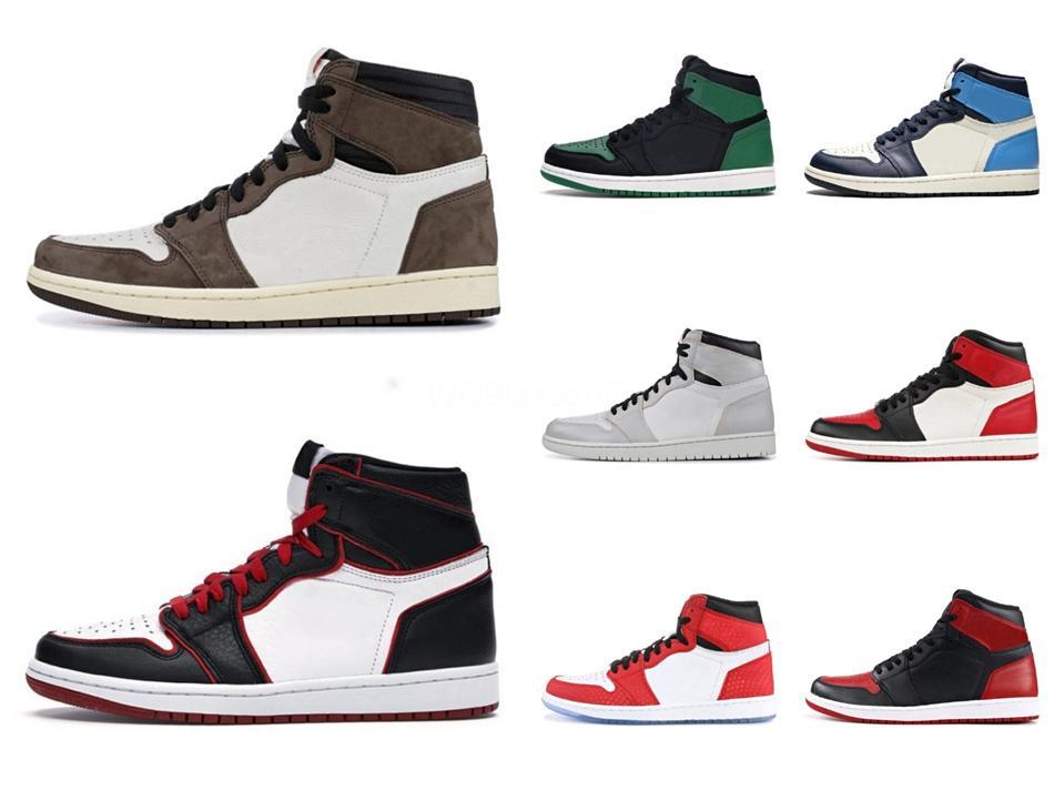 2020 Zapatos para hombre 1 Og superior de los hombres de baloncesto de la zapatilla de deporte de Jumpman Og buena calidad mandarín pato zapatillas de deporte para hombre 1S Deportes # 479