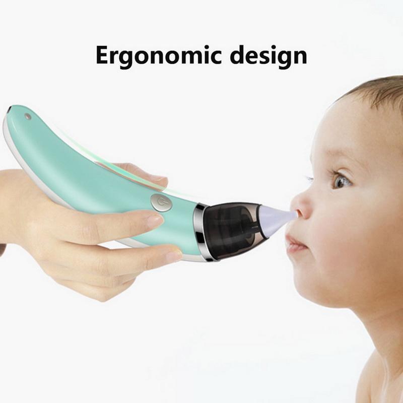 Bambino nasale Aspiratore elettrico di sicurezza igienico Cleaner naso con 2 formati di Nose Consigli e orale Snot Sucker per i neonati delle ragazze del ragazzo