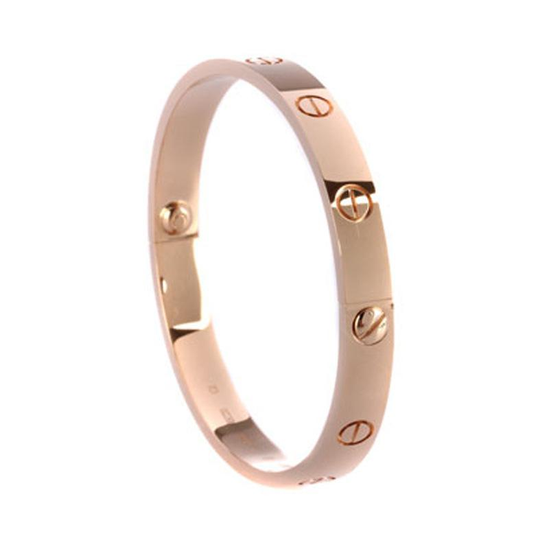 New European and American brand bracelets simple fashion 100set personality diamondinlaid hand ornaments 18K electroplated real gold brace