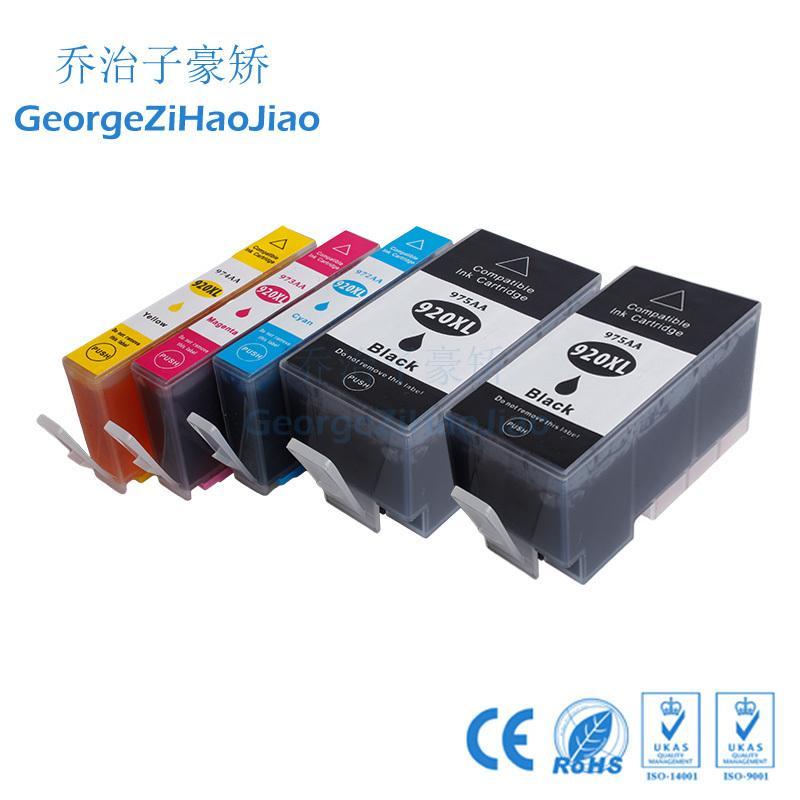 5 adet 920XL Uyumlu hp920 hp 920 hp920XL HP OfficeJet 6000 6500 7000 Yazıcı için Mürekkep Kartuşu
