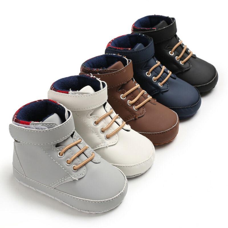 Toddler Infant Newborn Girls Cotton Prewalker Soft Sole Baby Anti-slip Shoes UK