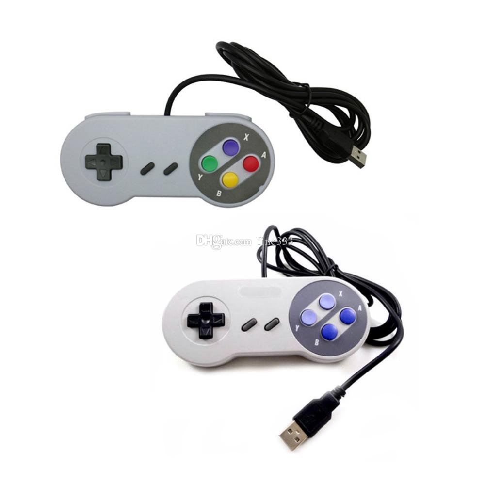 USB 포트 게임 컨트롤러 게임 패드 스위치 컨트롤러 유선 USB SNES 컨트롤러 레트로 게임 조이패드 조이스틱 게임 패드 스위치 용