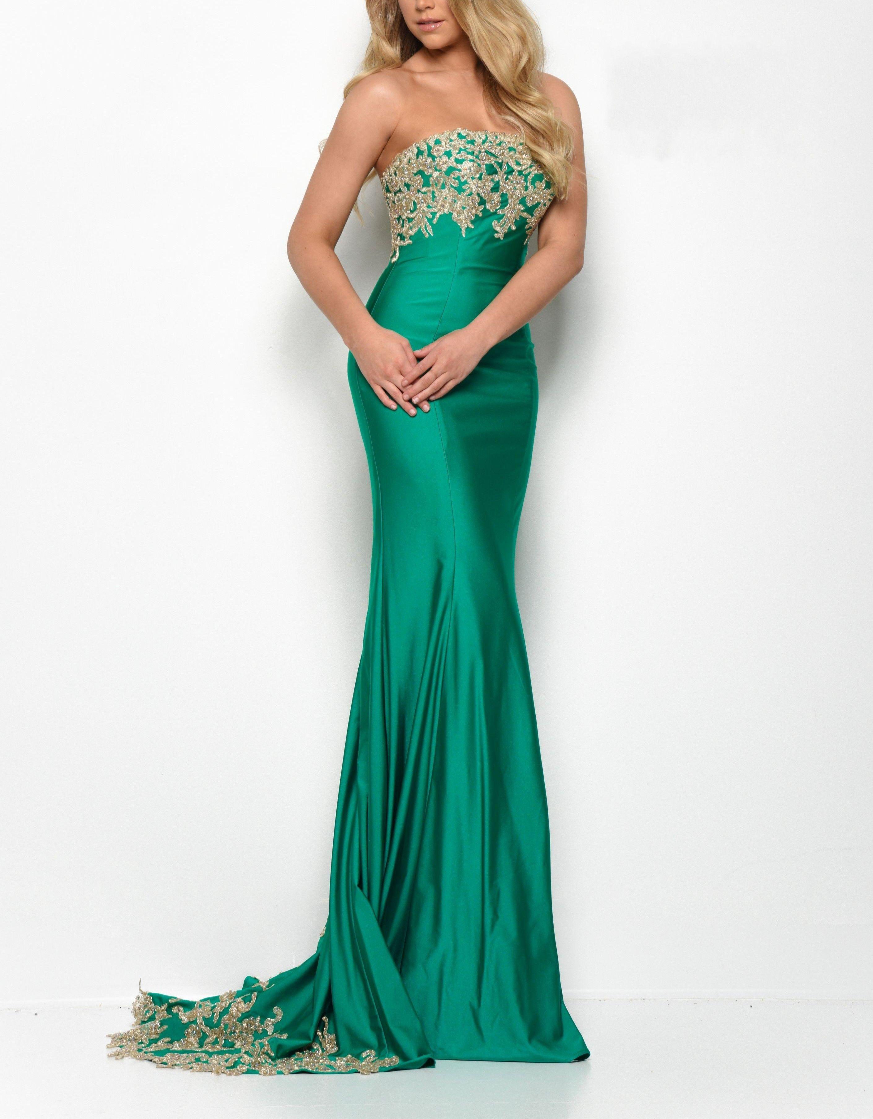 großhandel green gold lace trägerlos kleider abendgarderobe 2020 trompete  nixe abschlussball kleid abend elegante formaler kleid für besondere  anlässe