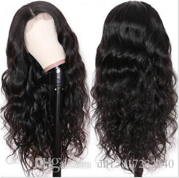 Serie di capelli Capelli Vergini Dell'Onda Del Corpo Dei Capelli Umani trasparente Anteriore Del Merletto Pre Pizzicate per le donne per a buon mercato