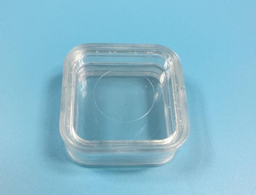55*55*25mm PET Membrane Stand Holder box Clear Floating Display Case Earring Gems Ring Jewelry Suspension Packaging Box