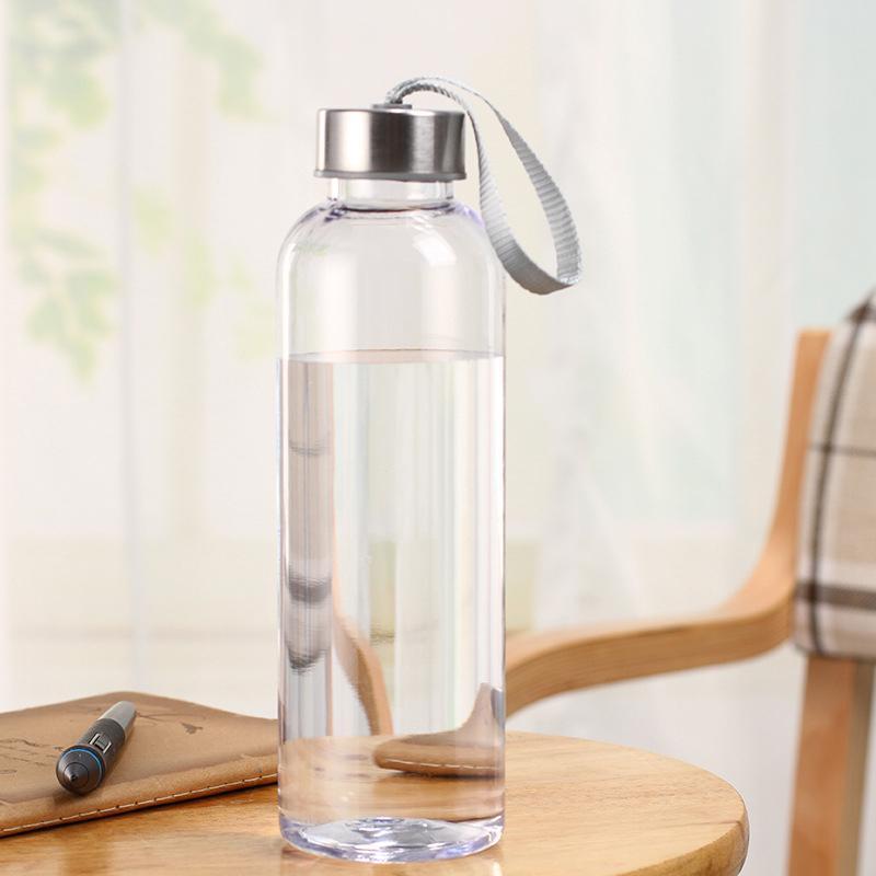 야외 스포츠 휴대용 물병 플라스틱 투명한 라운드 Leakproof 여행 물병 Drinkware에 대한 운반