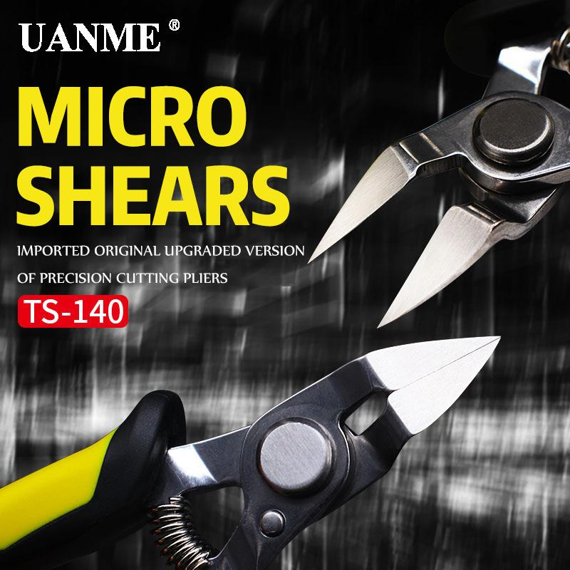 UANME TS-140 5 inch Round Cutter Pliers Excellent Cutting Pliers rear force spring design micro shears