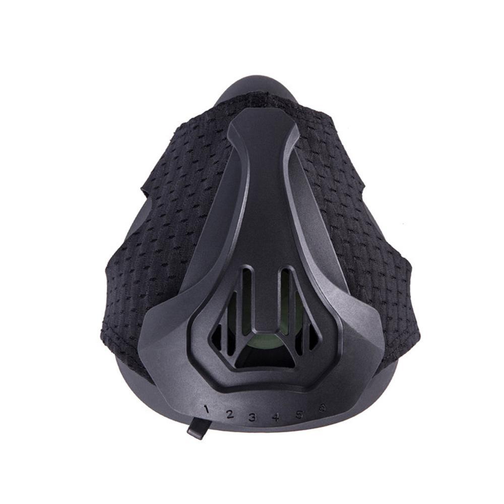 Las máscaras de respiración del deporte de resistencia del entrenamiento de la máscara de alta simulación de altitud para la aptitud Negro aumentar la resistencia