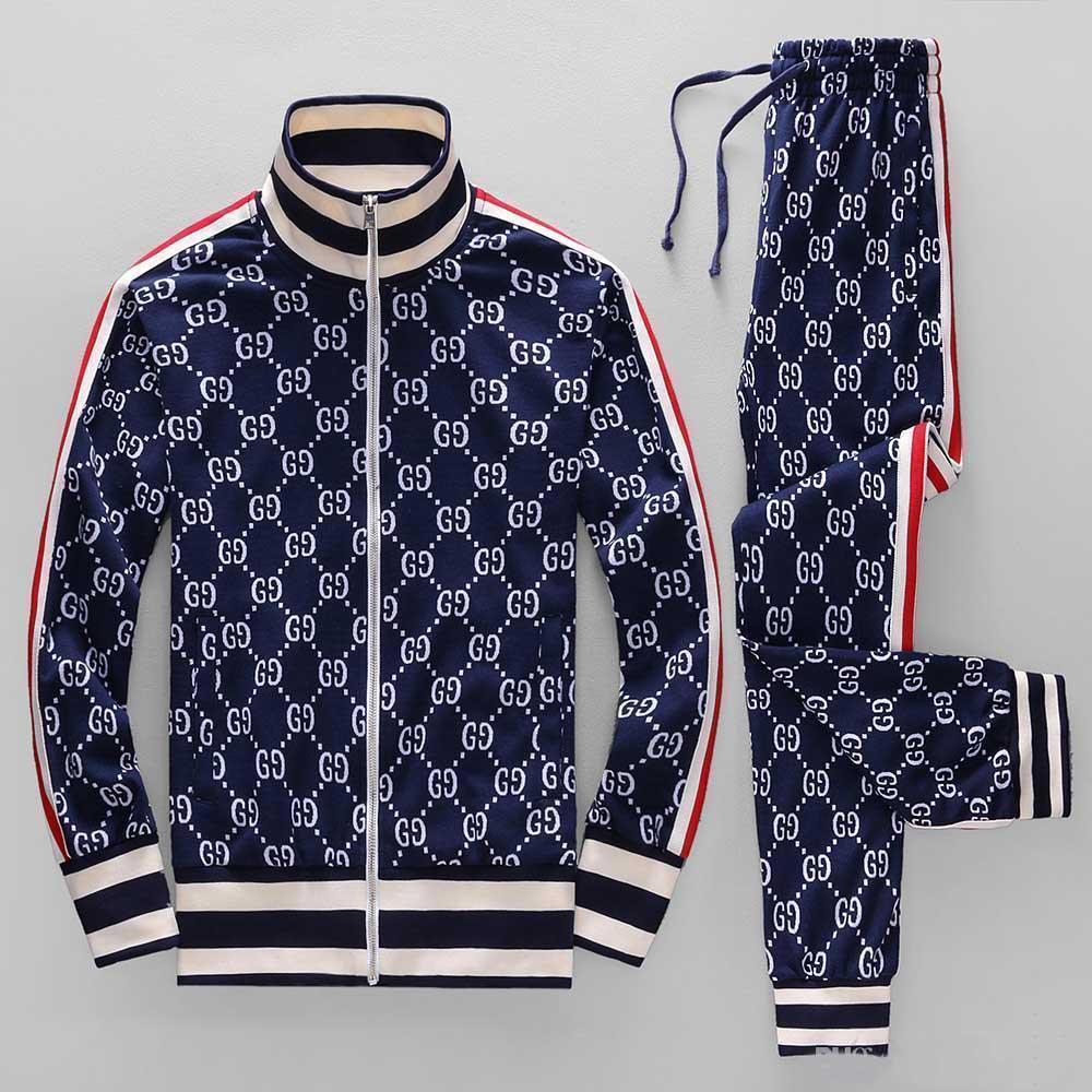 ano moda terno sportswear jaqueta 18ss correndo sportswear dos homens Medusa carta terno impressão esportes roupas de treino