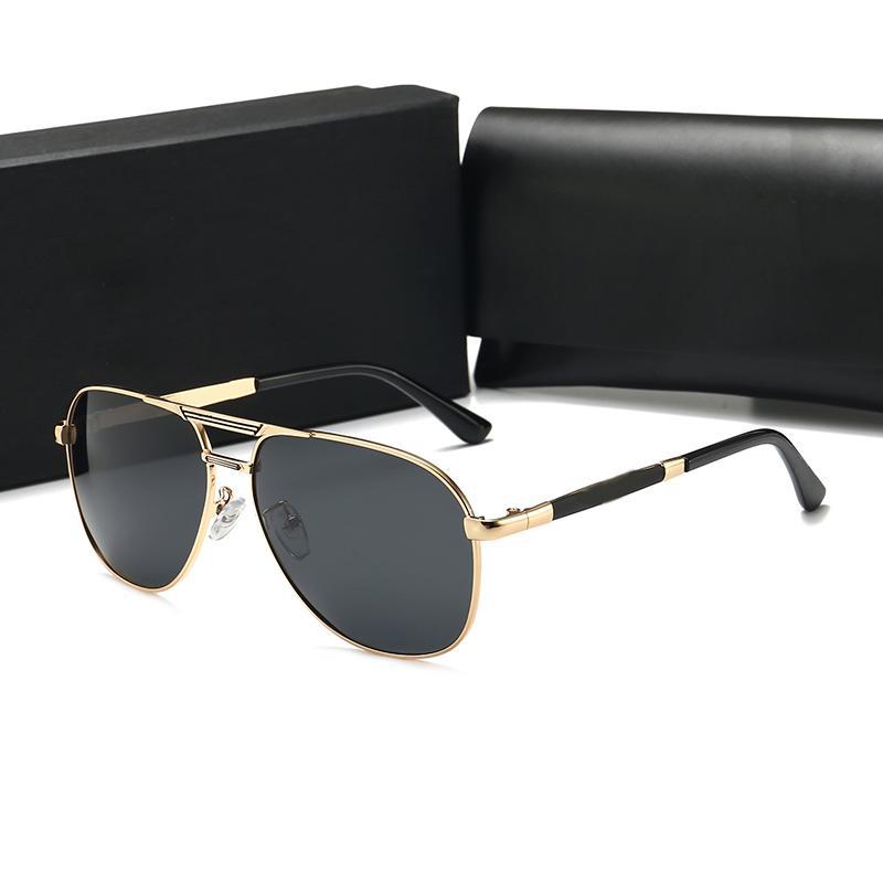 남성 여성 안경 패션 라운드 여성 선글라스 안경 태양 안경 디자이너 브랜드 블랙 메탈 프레임 다크 50mm 유리 렌즈