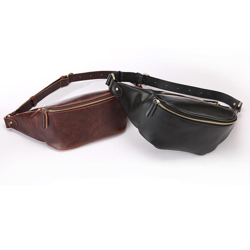20 adet DHL Stil antik yollar geri adam çanta çılgın-at deri eğimli omuz çantası göğüs BaoHu eğlence egzersiz blackcoffee