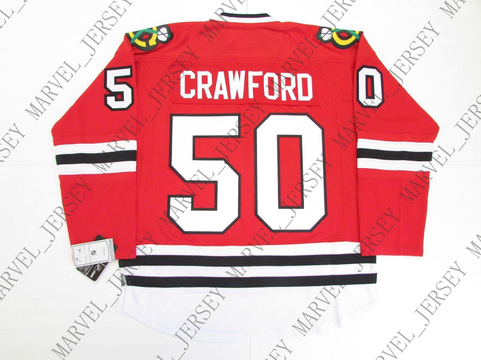 finest selection cb1ba 5435b Cheap Custom CRAWFORD CHICAGO BLACKHAWKS HOME 2015 STANLEY CUP HOCKEY  JERSEY Stitch Add Any Number Any Name Mens Hockey Jersey XS 5XL UK 2019  From ...