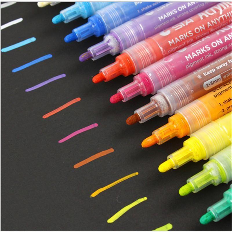 Marcadores Acrílico Painter Water Color Pen à base de água cor de caneta colorida marcador pena desenho a lápis Canetas para estudantes DHL livre