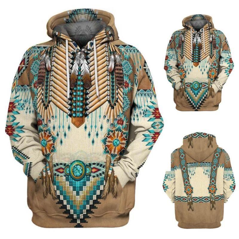 Native 3D Hoodies/sweatshirts Tee Men Women New Fashion Hooded winter Autumn Long Sleeve streetwear Pullover Style