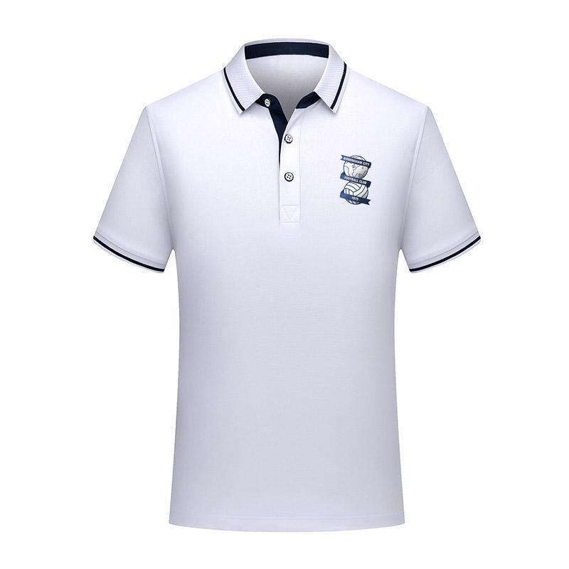 Birmingham City Football Polo Shirt Hommes de Football à manches courtes polos de mode Sport Formation Polos de Football de football T-Shirt Jersey Hommes Polos
