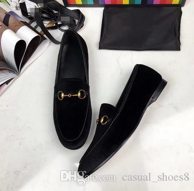 Meilleures ventes 2018 femmes en cuir véritable mode Mocassins Chaussures de luxe Mules de haute qualité Mocassins Chaussures Espadrilles Chaussures Casual d5
