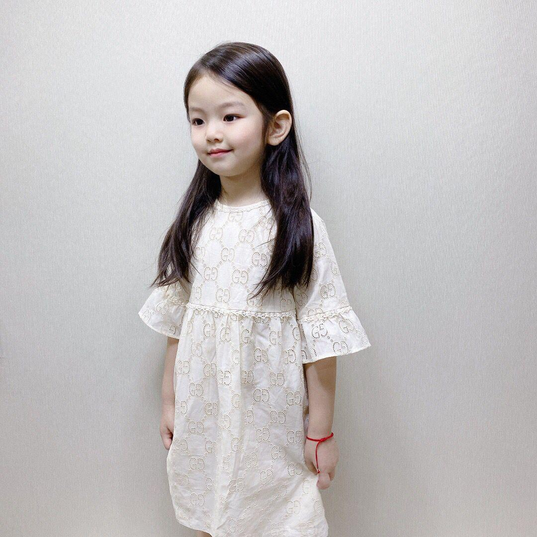 Новый 2020 цветочные девушки одеваются дети досуг юбка Baby Princess Dress милый хлопок дети дети и подростки летнее платье