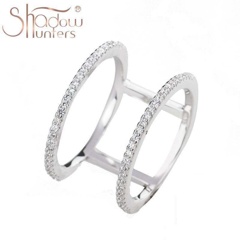 Сумеречные Argent 925 серебра способа стерлингового серебра круглые кристаллические кольца для женщин Обручальные кольца Женщины подарков 925 ювелирных изделий