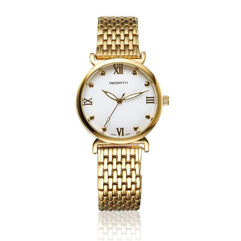 2019 Nova Moda Relógio de Quartzo Das Mulheres de Aço Strap Ladies Relógios Espelho de Vidro Pin Fivela Rodada Relógio de Pulso Relógio Momento Presentes