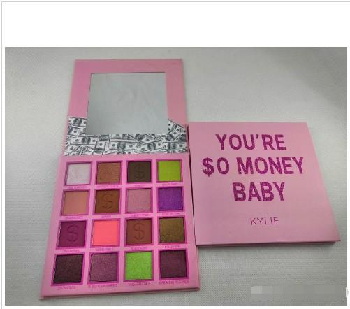 Newest Eye Makeup Ky Eyeshadow Palette Money Baby Eye Shadow Palette 16 Colors Matte Shimmer Eyeshadow Palette