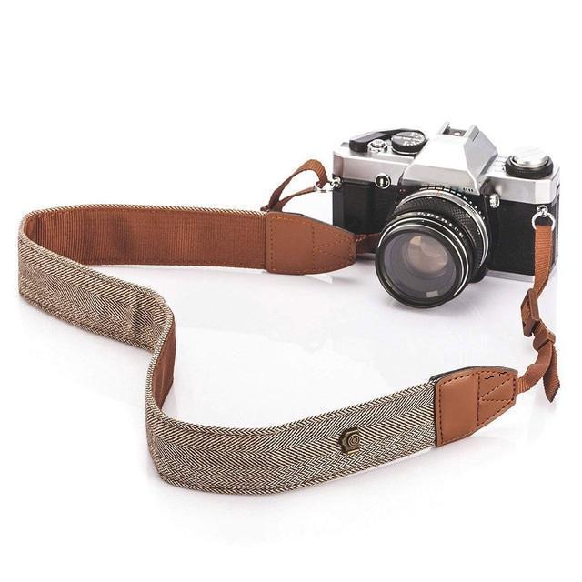 عالمي خمر قابل للتعديل القطن جلد الكتف الرقبة حزام حزام لسوني نيكون كاميرات حزام الملحقات